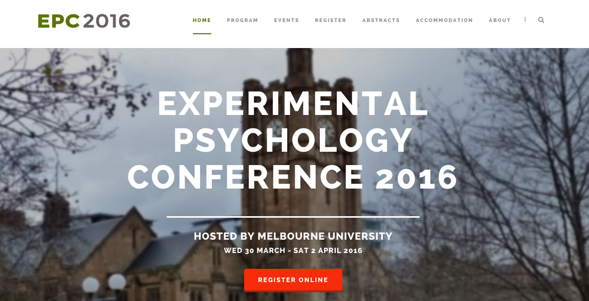 Experimental Psychology Conference 2016